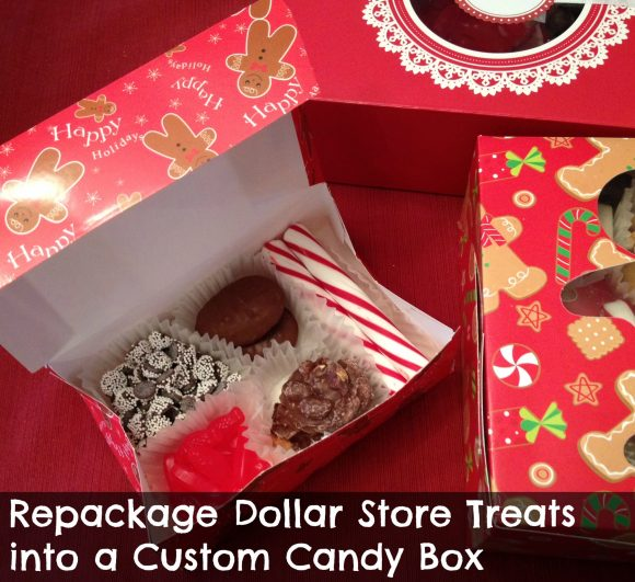 Repackage dollar store treats into a gift box - makes them way more special!