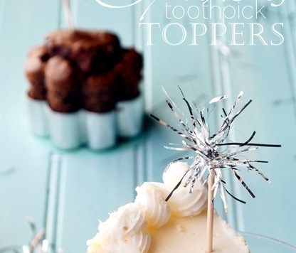 Sparkler Cupcake Toppers
