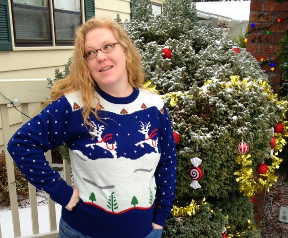 Ugly Christmas sweater - before