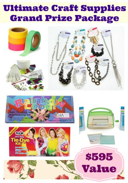 GIVEAWAY: Ultimate Craft Supplies {over $1000 retail value}