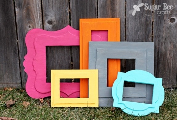 Make Foam Core Board Picture Frames » Dollar Store Crafts
