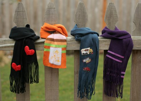4 No-Sew scarf embellishment ideas using dollar store scarves