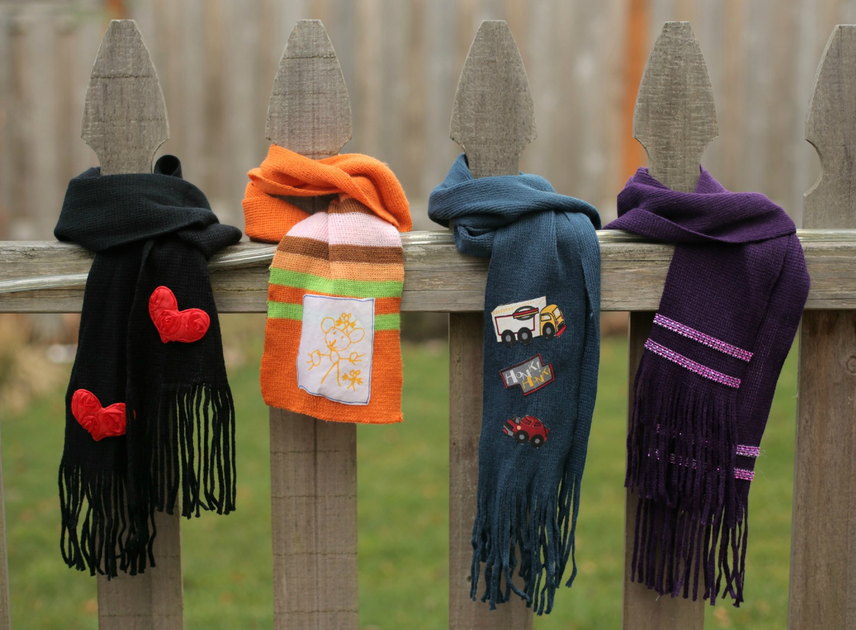 Four No-Sew Scarf Embellishment Ideas