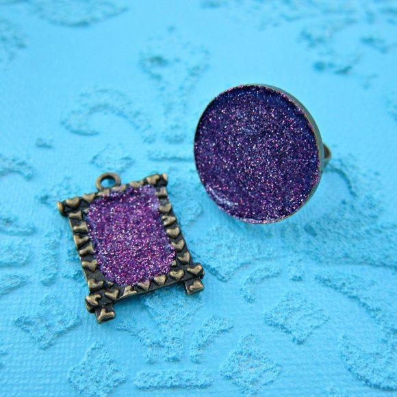 DIY Glitter Jewelry