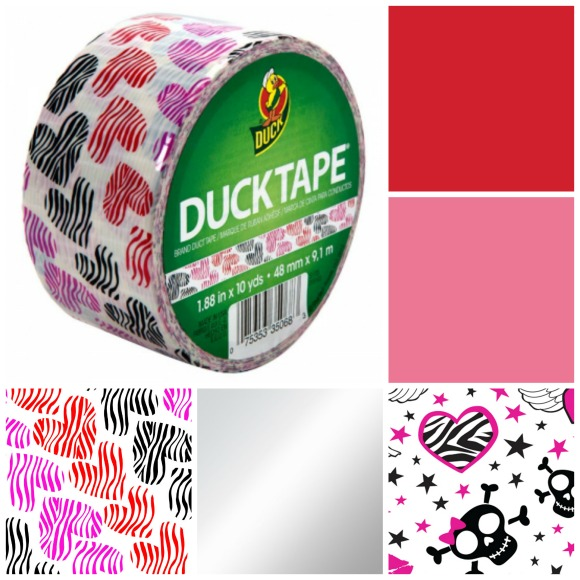 Duck Tape valentine prints and colors