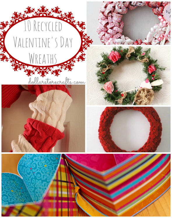 Recycled Valentines Day Wreaths