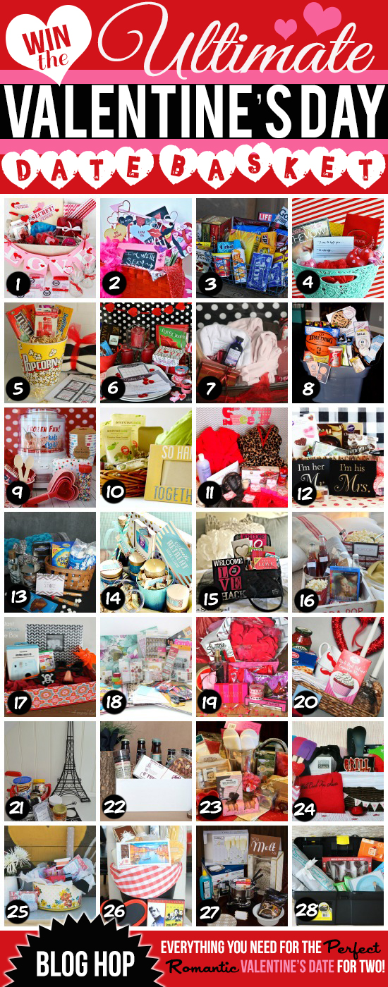 HUGE Giveaway - 28 different date night gift baskets, valued at over $100 each!