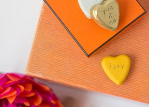 Make Cement Valentine Hearts