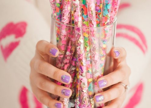 Make Confetti Sticks