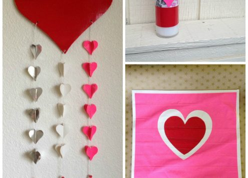 Dollar store crafts: 3 Duck Tape Valentine Craft ideas