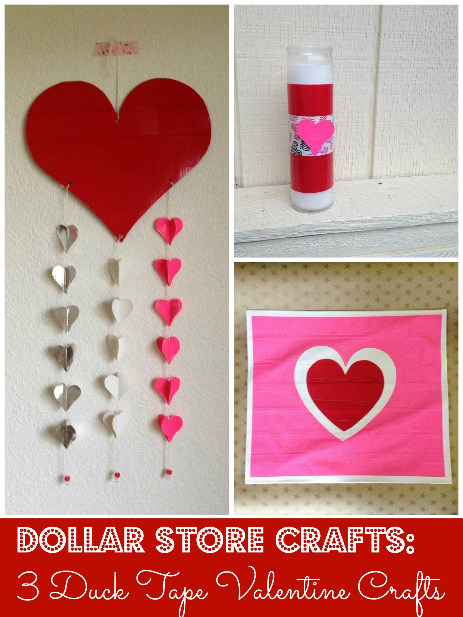 Tutorial 3 duck tape valentine crafts dollar store crafts for Duck tape craft ideas