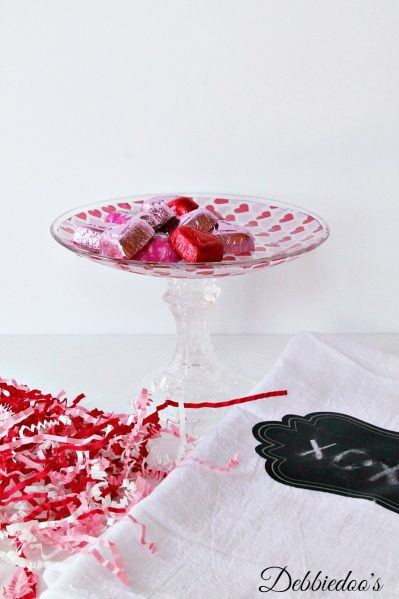 Dollar Tree valentine candy dish