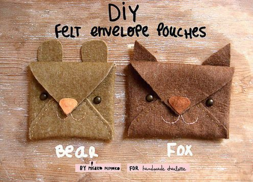 Make Felt Animal Envelopes