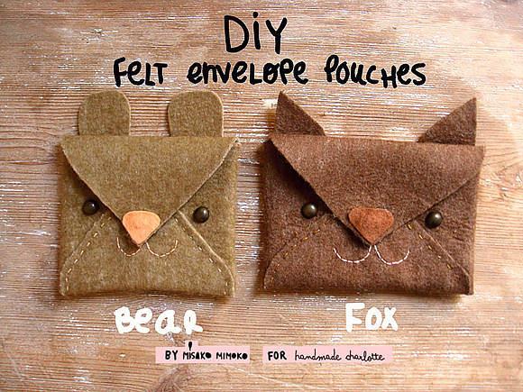 Make Felt Animal Envelopes
