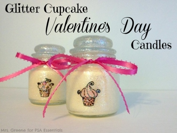sparkley cupcake candle