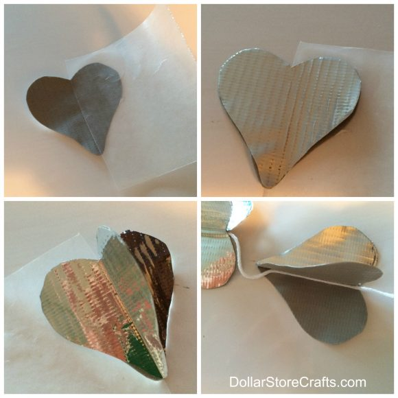 How to make a 3D duct tape heart