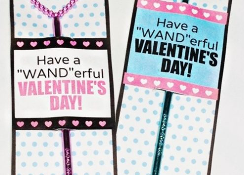 valentine wand and printable