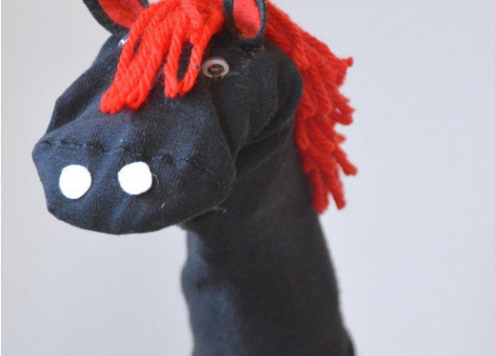 how to make a no sew horse sock puppet