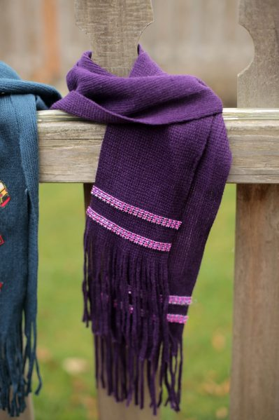 No Sew scarf idea - dollar store rhinestones