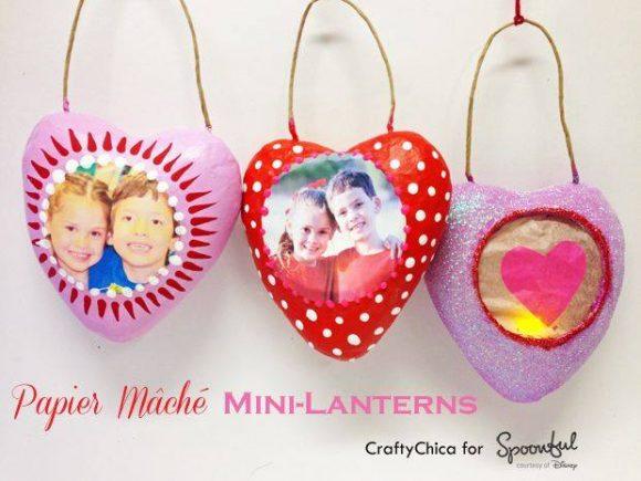 Valentine paper mache heart craft by CraftyChica.com
