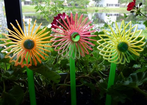 How to make cute flower stake decorations