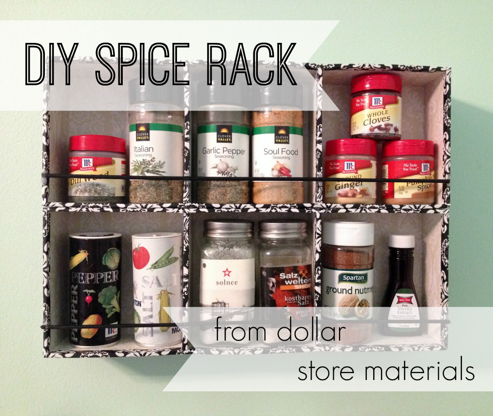 Make A DIY Spice Rack With Dollar General » Dollar Store