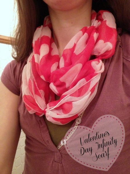 tutorial valentine s day infinity scarf dollar store crafts