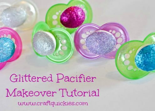 How to make a glittered pacifier