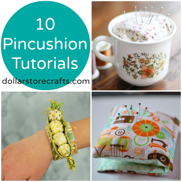 10 Clever Pincushion Tutorials - Dollar store crafts