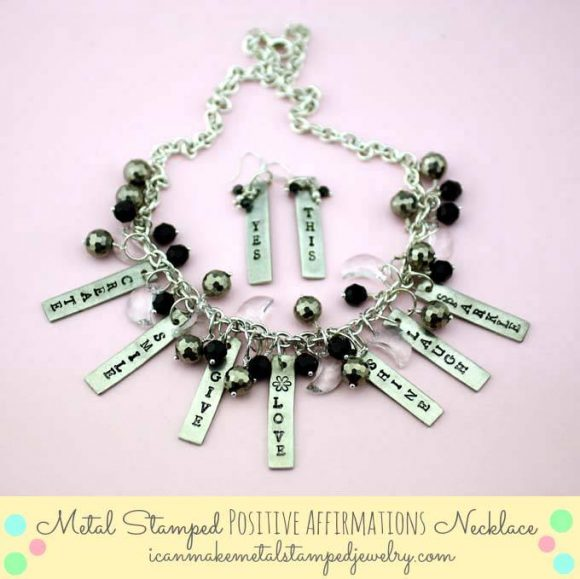 Stamped Metal Positive Affirmations Necklace by Margot Potter