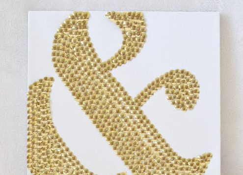 DIY Ampersand Thumb Tack Art