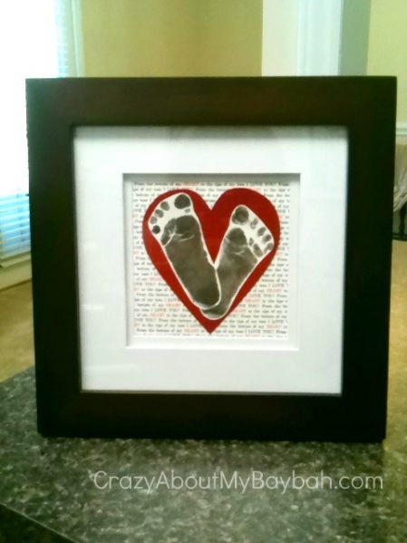 Make Baby Footprint Heart Art