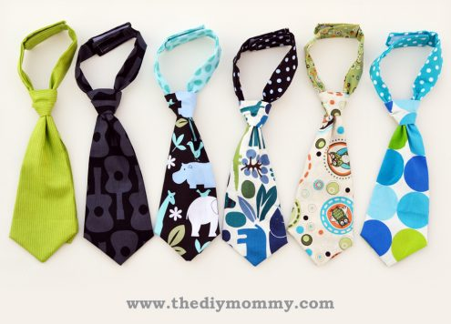 Tutorial - how to make baby neckties