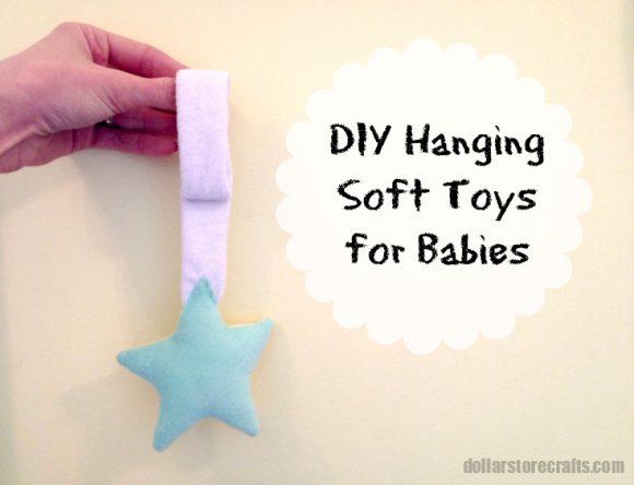 DIY hanging soft toys for babies