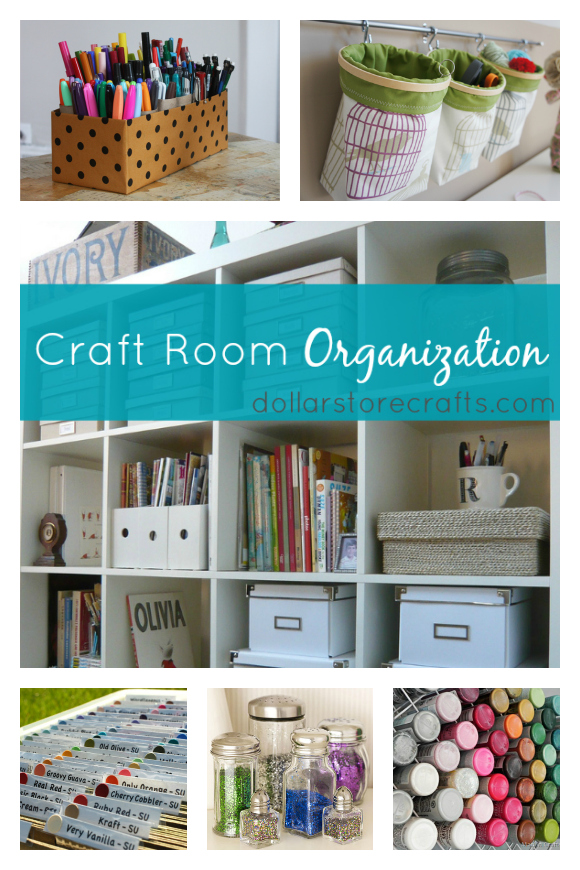 10 Craft Room Organization Ideas » Dollar Store Crafts
