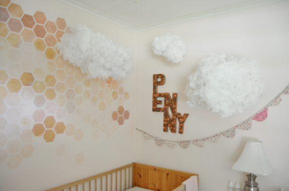 DIY hanging cloud decor