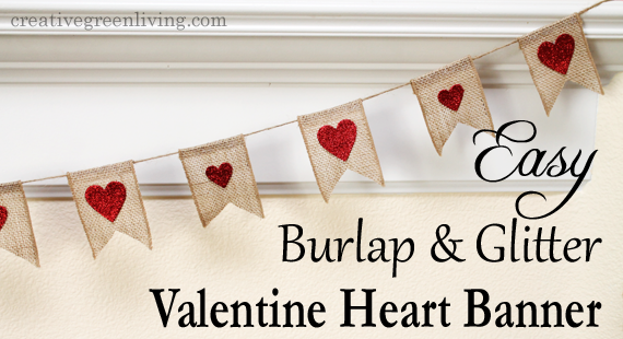 how to make a burlap bunting for valentine's day