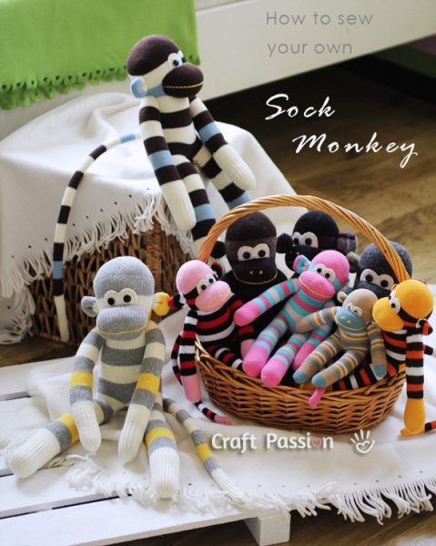 how to make a sock monkey