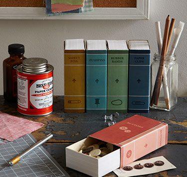 Matchbox desk organizers - dollar store craft
