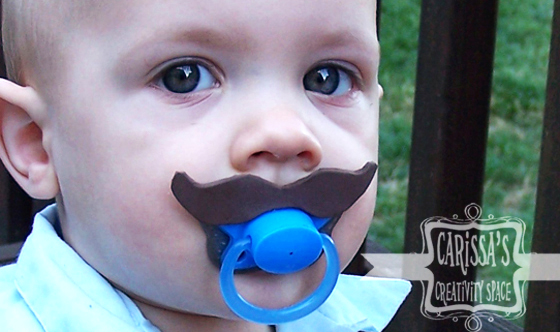 mustache binky pacifier tutorial