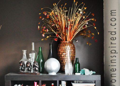 Make a Penny Covered Vase