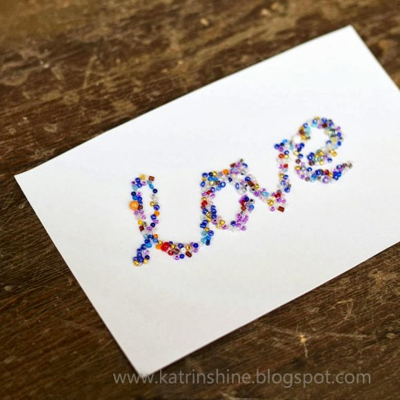 Seed Bead Love Card