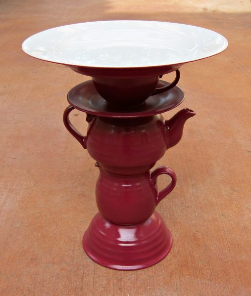 stacked dish cake stand