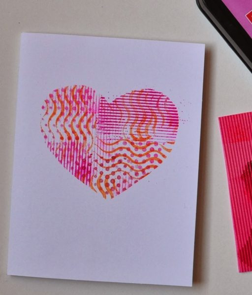 Stenciled Heart Card