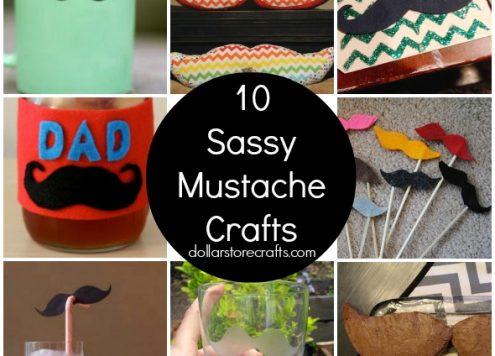 10 Sassy Mustache Crafts