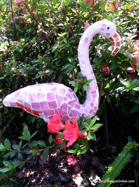 Dollar Store Mosaic Flamingo