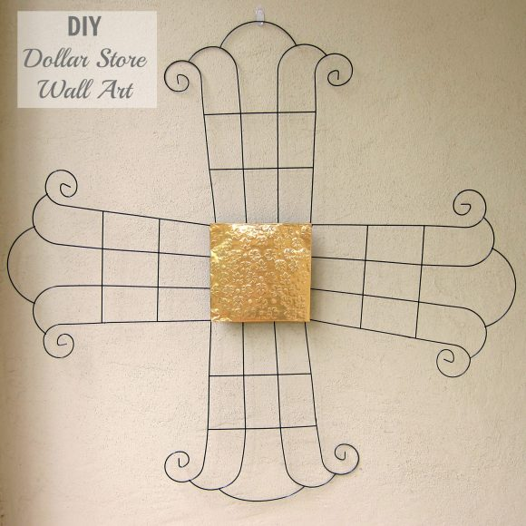 Make Your Own Metal Wall Art with Dollar Items » Dollar Store Crafts