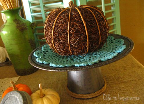 Faux Galvanized Cake Stand