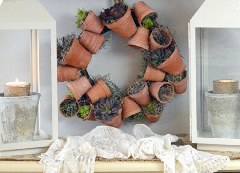 Make a Flower Pot Wreath