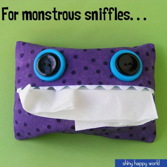 DIY Monster Tissue Holder